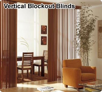 Block-out vertical blinds